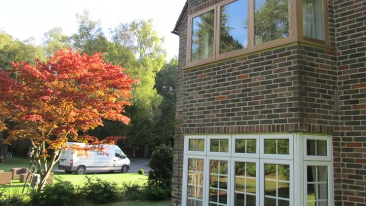 natural oak timber framing windows