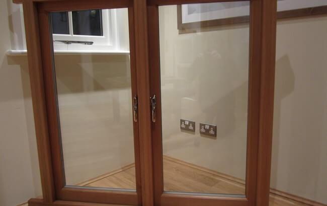 Showroom oak window frame