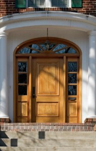 oak front door adding style to entrance