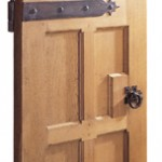 Oak Gothic style interior door