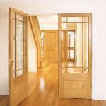 Interior gunstock style doors manufactured in European oak