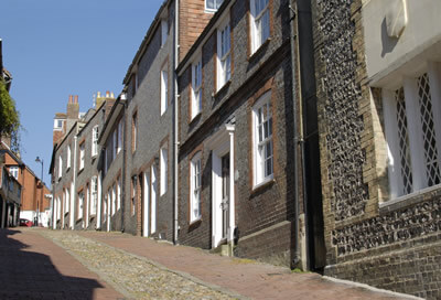 street with period properties