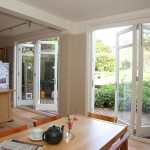 Kitchen with double Bi-folding doors