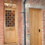 Unique oak front and side door
