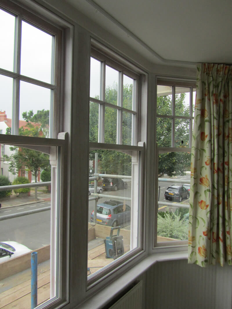 Traditional Victorian Style Windows Installed