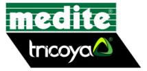 medite and tricoya logos
